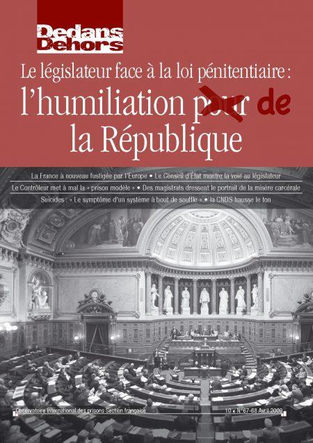 La France face à ses prisons : l'humiliation pour la République